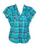 blå rutig skjorta Royaltyfria Foton