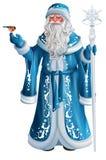 Blå rysk farfarfrostryss Santa Claus Saint Nicholas vektor illustrationer
