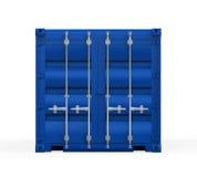 Blå sändningsbehållare Arkivfoto