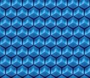 Blå sömlös abstrakt sexhörningsbakgrund Arkivbilder