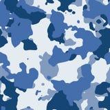 Blå sömlös camo Arkivfoto