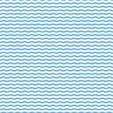 Blå sömlös krabb linje modell, stilfull design Royaltyfri Illustrationer