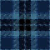 Blå sömlös skotsk modell för tartanpläd Vektor Illustrationer