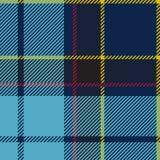 Blå sömlös tartanpläd Arkivbilder