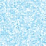 Blå sömlös triangelmosaikbakgrund Arkivbilder