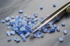 blå safir Royaltyfri Foto
