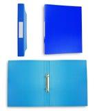 blå samlingsmapp Royaltyfria Bilder