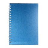 Blå sammetanteckningsbok Royaltyfria Bilder