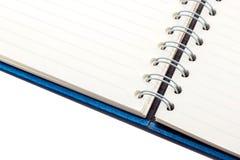 Blå sammetanteckningsbok Arkivfoton