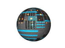 blå satellit Arkivbild