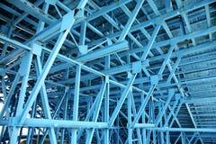 blå scaffold Royaltyfri Fotografi