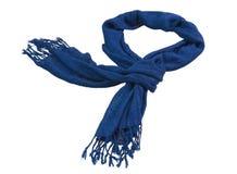 Blå scarf Royaltyfria Foton