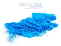 Blå scarf Fotografering för Bildbyråer