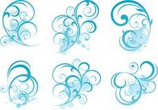 blå scrollform Royaltyfri Foto