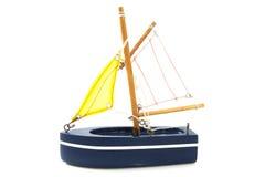 Blå segelbåt Royaltyfri Fotografi