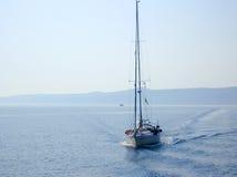 blå segling Arkivbilder