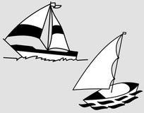 blå seglinghavsyacht Fotografering för Bildbyråer