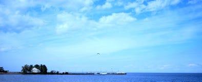 blå serenity Arkivfoto