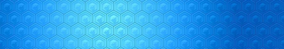 Blå sexhörningsbanerbakgrund Arkivfoton