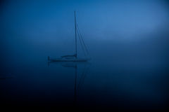 blå ship Arkivbild