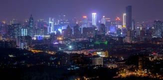 Blå signal av det stads- landskapet Royaltyfri Fotografi