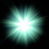 blå signalljusgreen Arkivbild