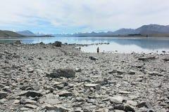 Blå sikt av Nya Zeeland Royaltyfria Foton