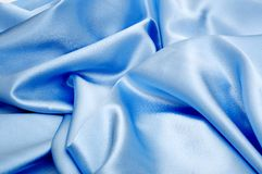 blå silk Royaltyfri Bild
