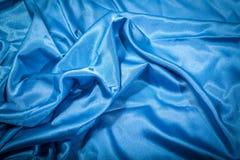 blå silk Royaltyfri Foto