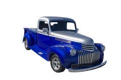 blå silversignallastbil två Arkivbild