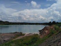 Blå sjö på södra Borneo Fotografering för Bildbyråer