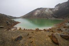 Blå sjö Tongariro Royaltyfria Bilder