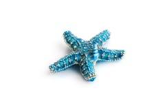 Blå sjöstjärna som isoleras på vit bakgrund Royaltyfria Foton