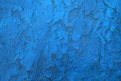 Blå sjaskig målarfärg Royaltyfri Foto
