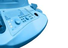 blå sjukvård isolerad ny tangentbordläkarundersökning Royaltyfria Bilder