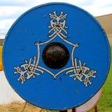 blå sköld Royaltyfri Fotografi