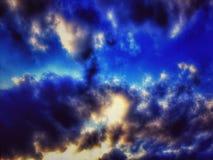 Blå skönhet Arkivbild