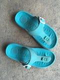blå sko Royaltyfri Fotografi