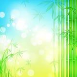 blå skogsky för bambu