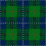 Blå skotsk sömlös tartanpläd Fotografering för Bildbyråer
