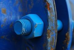 blå skruv Royaltyfri Fotografi