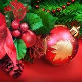 blå skugga för prydnad för julblommaillustration Arkivbild