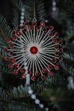 blå skugga för prydnad för julblommaillustration Royaltyfri Foto