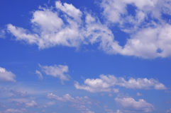 blå sky Royaltyfri Fotografi