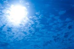 blå sky Arkivbilder