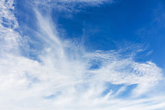 blå sky för bakgrund Arkivfoton