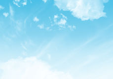 blå sky för bakgrund Royaltyfri Bild
