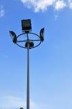 blå sky för ljus pol Royaltyfri Fotografi