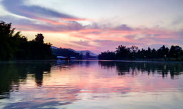blå sky thailand Royaltyfria Foton