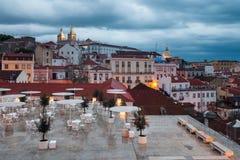 Blå skymning i Lissabon Royaltyfria Foton